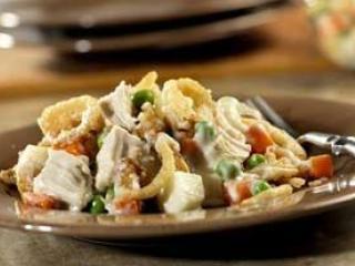 Мясной салат с курицей и грибами